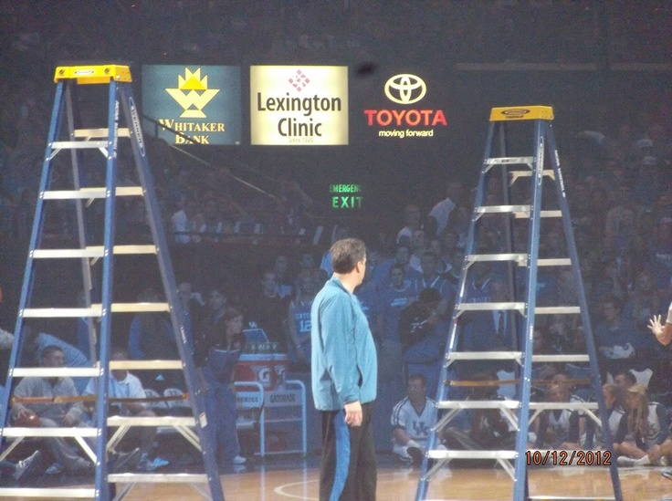 In partnership with the National Association of Basketball Coaches (NABC), Werner Ladder, the Official Ladder of the 2012 NCAA® Basketball Championships, presented coach John Calipari and the University of Kentucky with a pair of ladders Oct. 12, 2012 during Big Blue Madness in honor of their 2012 NCAA® Division I Men's Basketball National Championship.