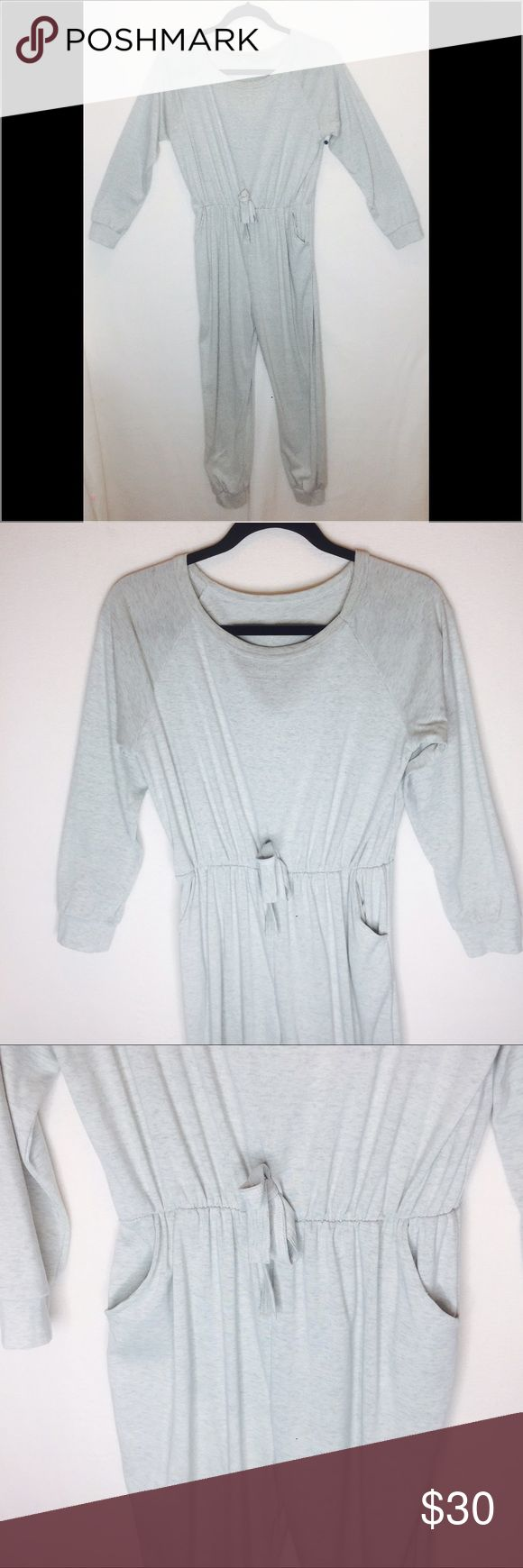 Great sweatsuit onesie Gray jumpsuit sweats with pockets and waist bow. Super comfy!! Other