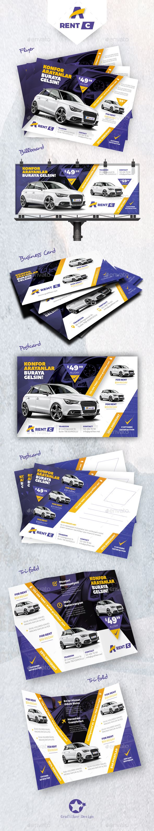 Ren A Car Bundle Templates  — PSD Template #business #motorcycles • Download ➝ https://graphicriver.net/item/ren-a-car-bundle-templates/18069173?ref=pxcr