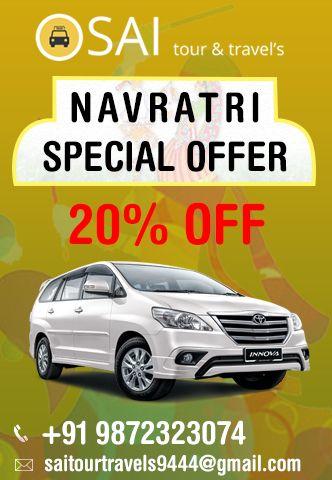 Enjoy 20% Discount at Sai Tour & Travels. #Chandigarh #Mohali #Panchkula #Taxiservice