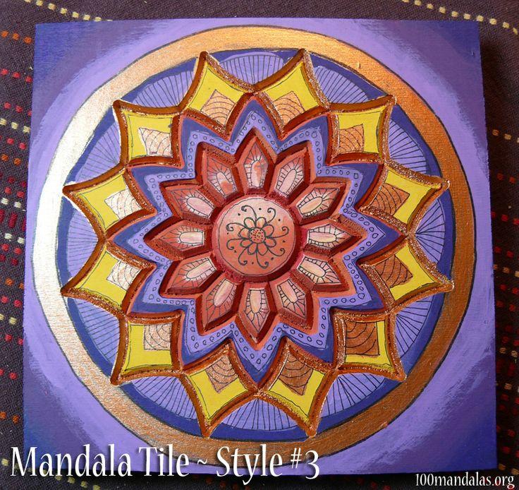 Wood Mandala Tile - Unfinished tiles with carved mandala patterns, ready to paint. $18.50 https://www.etsy.com/shop/TrueNorthArts?section_id=16417751&ref=shopsection_leftnav_4
