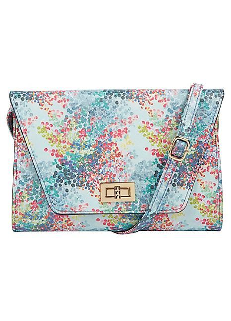 Lotus Digital Printed Clutch #kaleidoscope #fashion #accessories