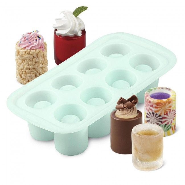 Make your own edible shot glasses from ice, candy or cookie dough! Then add your favourite filling, liquor or beverage.