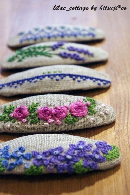 刺繡のパッチンピンの作り方 刺繍 編み物・手芸・ソーイング   アトリエ 手芸レシピ16,000件!みんなで作る手芸やハンドメイド作品、雑貨の作り方ポータル