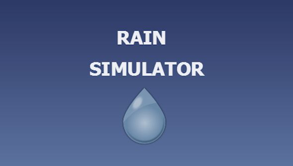 Rain Simulator . Create your own rain, calm, meditation app in HTML5 format (made with Construct 2) and exportable on HTML5, iOS, Android, Windows