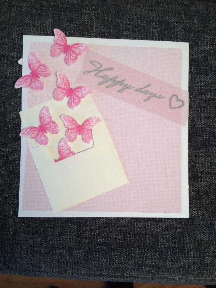 Bursdagskort med sommerfugler