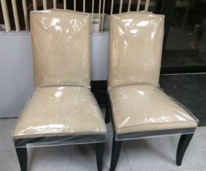 Full Plastic Dining Chair Covers