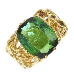 A 18ct gold tourmaline ring.