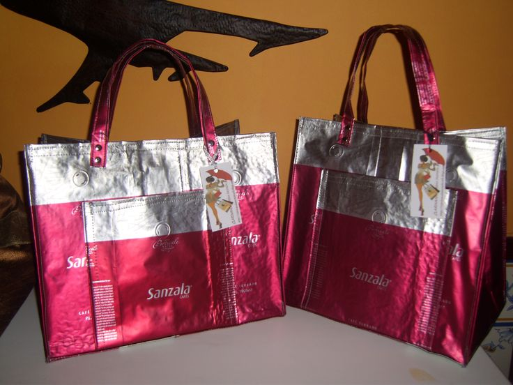 sacos termicos confecionados a partir da reciclagem de pacotes de cafe