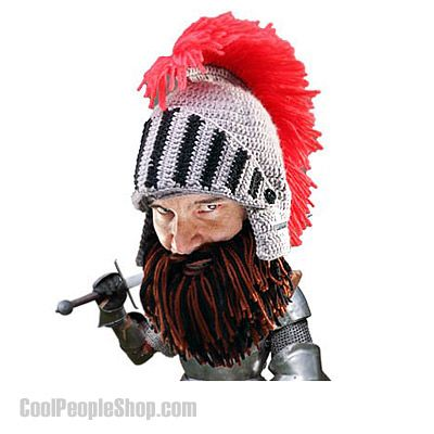 $50.00 Barbarian Knight Beard Head | Cool People Shop http://www.coolpeopleshop.com/products/hats/barbarian-knight-beard-head With Beard Head's signature removable beard and the new, commanding helmet, you'll be protected from all foes and cold weather alike. A cool replica of that used by Sir Beard Head, the Knight features an awesome red mane and an adjustable visor to protect your face in times of battle!  #beardhead #barbarian #knightbeard #knight #armor #coolhat #hat #beardhat