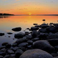 Fototapet - Northern Sweden Midnight Sun