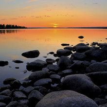 Fototapet - Northern Sweden Midnight Sun