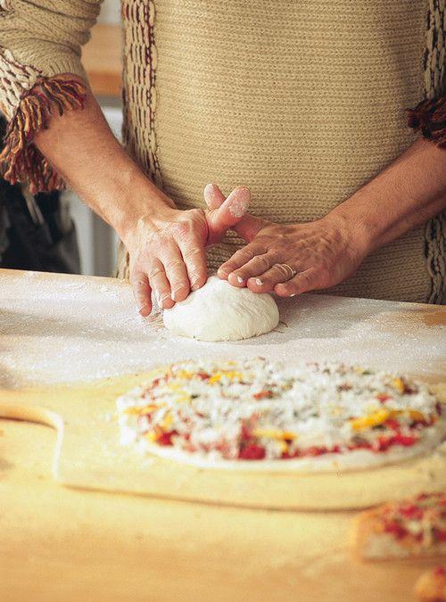 Pizza croûte mince au fromage frais