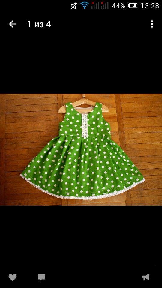 Хлопковое платье для девочки на заказ по вашим размерам
