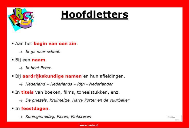 Hoofdletters | www.nazia.nl – De klas enzo…