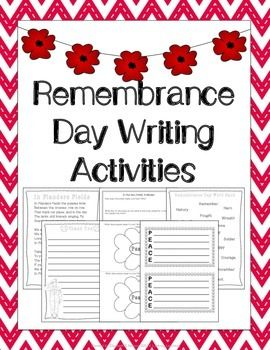 Remembrance Day Writing Activities