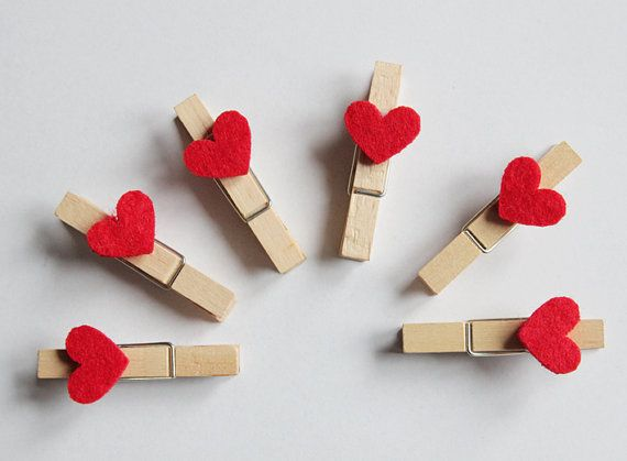 Hey, I found this really awesome Etsy listing at https://www.etsy.com/listing/208811614/wood-clothespins-with-red-heart-felt
