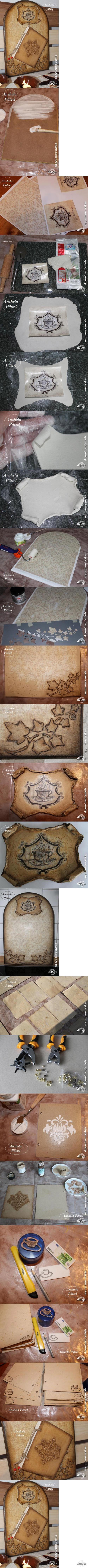 """Декупаж - Сайт любителей декупажа - DCPG.RU   Кухонное панно """"Старинная книга рецептов"""" Click on photo to see more! Нажмите на фото чтобы увидеть больше! decoupage art craft handmade home decor DIY do it yourself tutorial"""