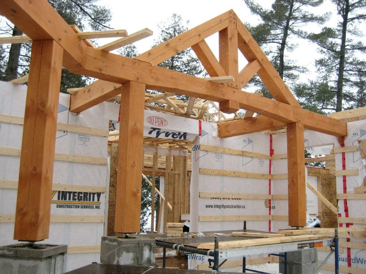 Current build by Integrity, timber frame