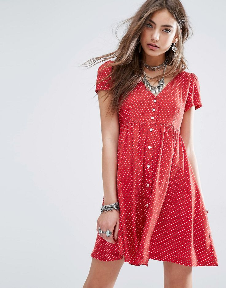Image 1 of Denim & Supply By Ralph Lauren Babydoll Dress With Ditsy Star Print