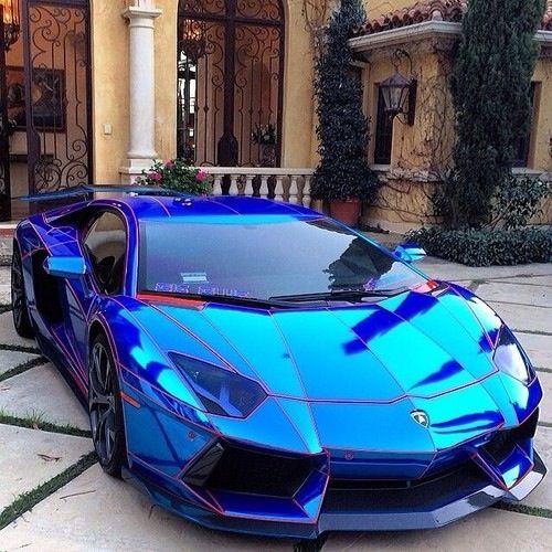 Blue Lamborghini- #LadyLuxuryDesigns