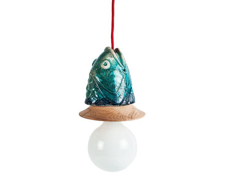 Bonvagon - Ev Aksesuarları - Seramik Balık Aydınlatma Tasarımı