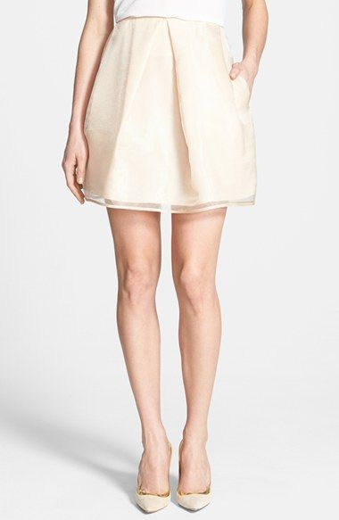 Free shipping and returns on 1.State Pleated Organza Skirt at Nordstrom.com. Beautiful, sheer organza in a pale blush hue is fashioned into a feminine skirt detailed with a single inverted pleat at the center front.