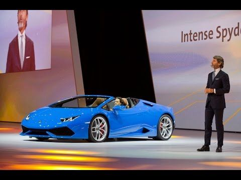 Nuova Lamborghini Huracán Spyder Anteprima Mondiale a Francoforte - YouTube