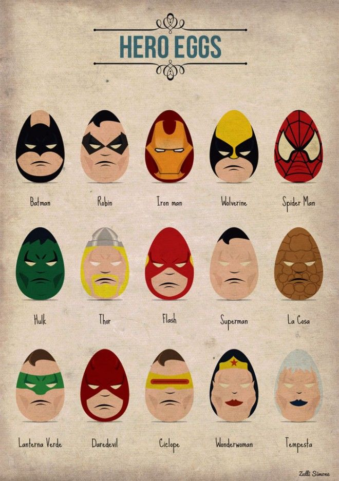 super hero eggs - Webneel Daily Graphics Inspiration 557 http://webneel.com/daily | Design Inspiration http://webneel.com | Follow us www.pinterest.com/webneel