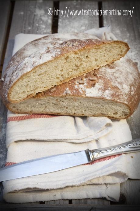 Pane al Kamut e semi di girasole: la fetta