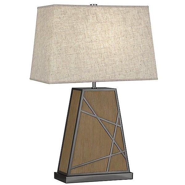 Robert Abbey Bond Tapered Table Lamp ($656) ❤ liked on Polyvore featuring home, lighting, table lamps, beige, robert abbey lamps, beige table lamps, robert abbey lighting, geometric table lamp and soft white lights