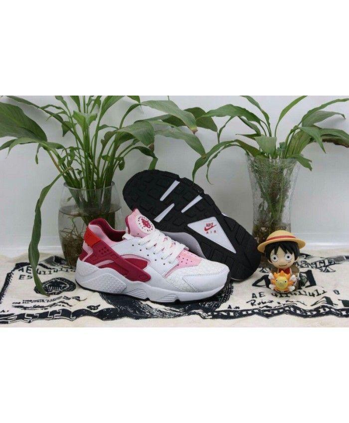 Nike Air Huarache Junior White Pink Trainers