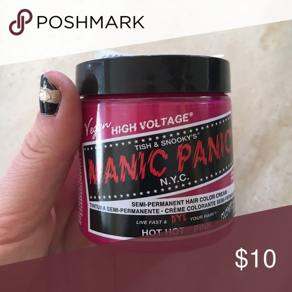 Selling this Hot hot pink manic panic hair dye on Poshmark! My username is: kvryv. #shopmycloset #poshmark #fashion #shopping #style #forsale #Manic Panic #Other