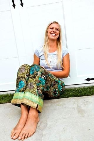 Beautiful pajamas made by women rescued from sex trafficking in India.