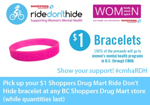 Look out for these bracelets - 100% of proceeds to CMHA programs!