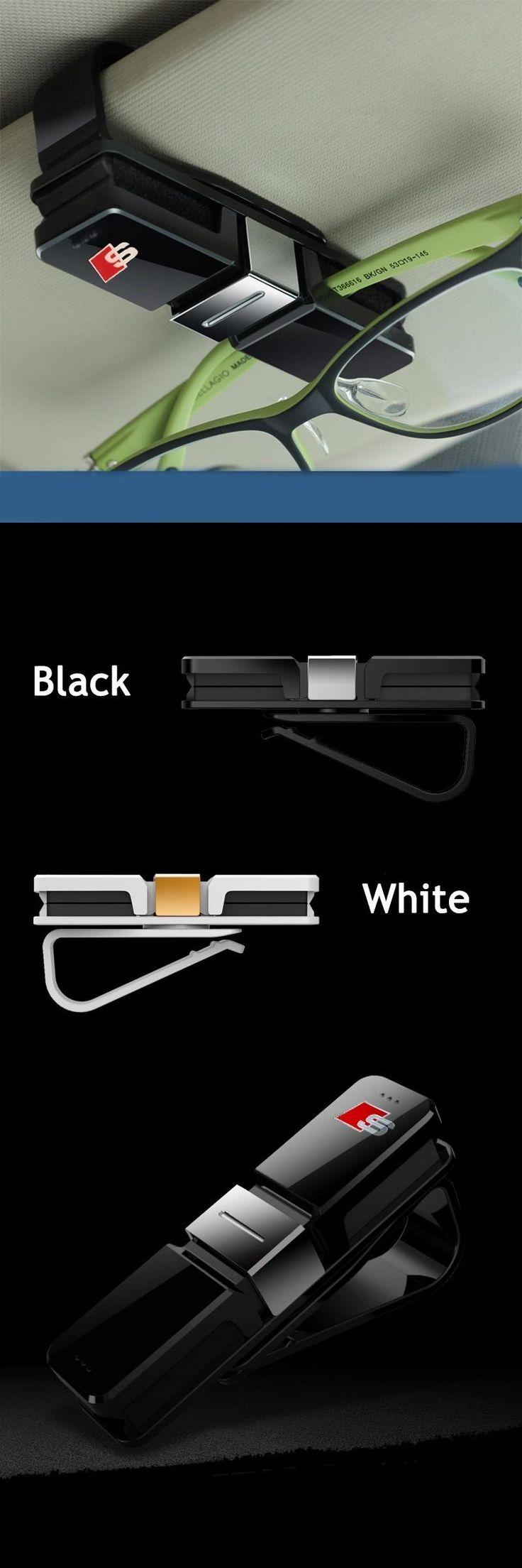 [Visit to Buy] Sline S line Design Car Glasses Holder Case Muiti-purpose Cards Clip Sun Visor Position For Audi A1 A3 A4 A5 A6 A7 Q3 Q5 Q7 RS #Advertisement