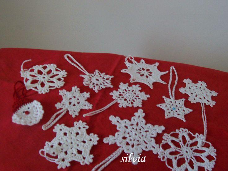 ornamente fulgi de nea,stele crosetate