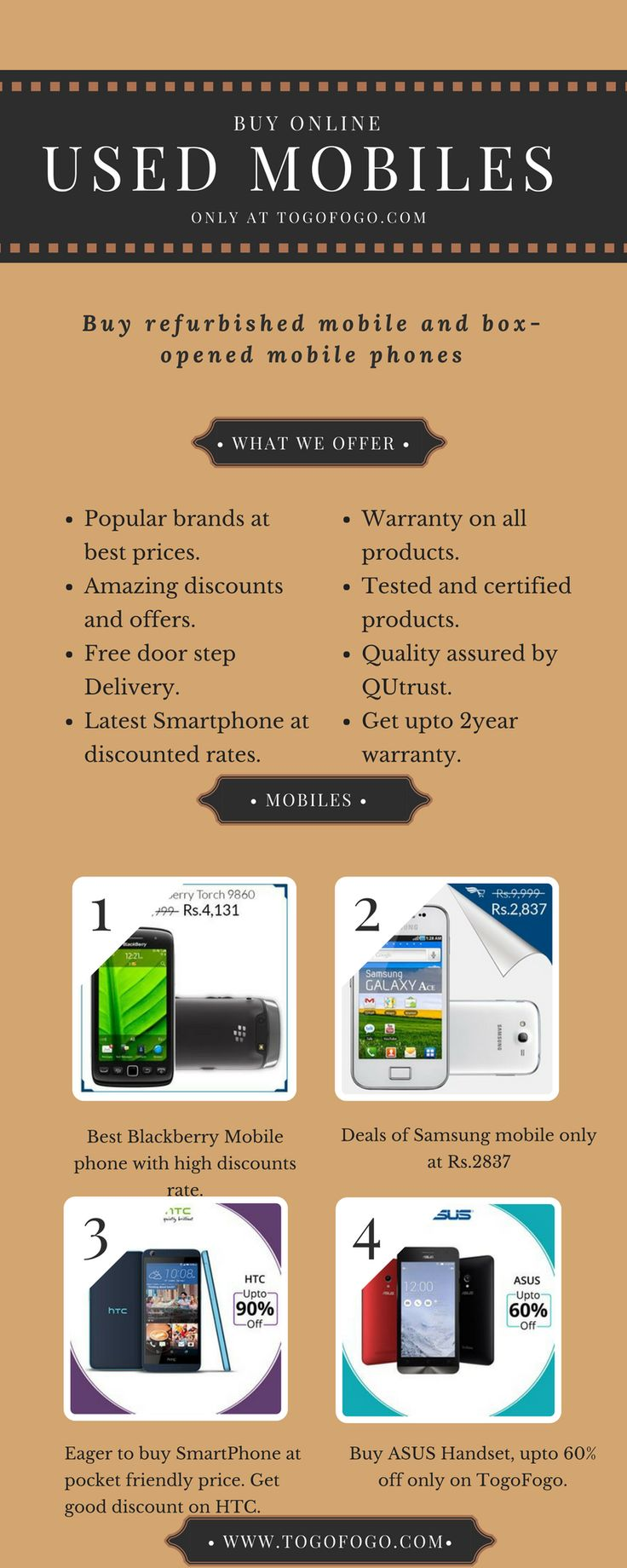 Buy Used Mobile Phones: Buy used mobile, refurbished, box opened and certified pre owned mobile phones, tablets & laptops online in India with huge discounts, 1 year warranty, free shipping, and COD. More info: http://bit.ly/2oxwDZu