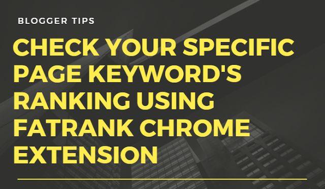 Blogger Tips - Check Keyword Ranking