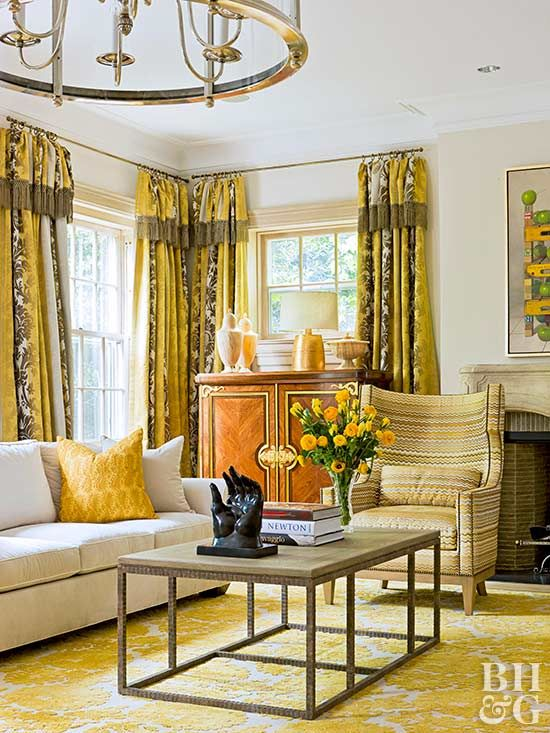 How to Decorate Your Living Room with Cheery Yellow Living rooms