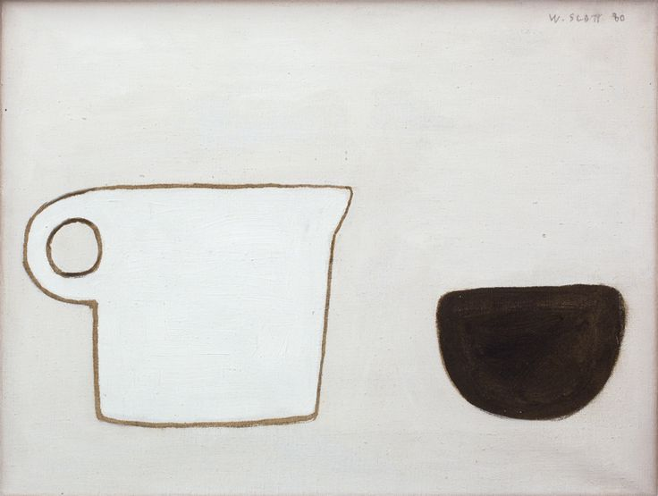 William Scott, [Poem for a Jug], 1980, Oil on canvas, 30.5 x 40 cm / 12 × 15¾ in, Private collection