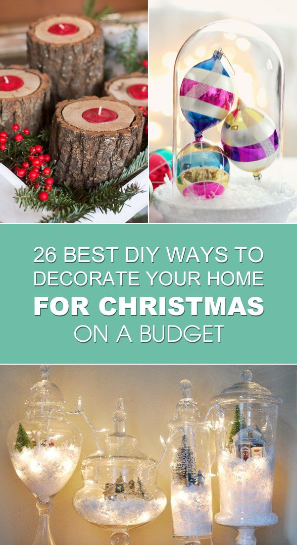 diy ways to decorate your home for this christmas all on a budget