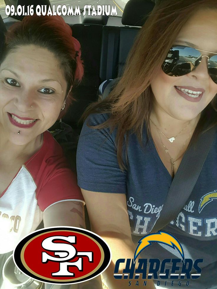 Game On!!! Where you at? Our tickets say Field Side, Line 3. Anyone else??? Who's in? We should be there by 530p.  #QualcommStadium #Niners #SanFrancisco49ers #SanDiegoChargers #KickOff #Touchdown #GoldRush  #deharo70