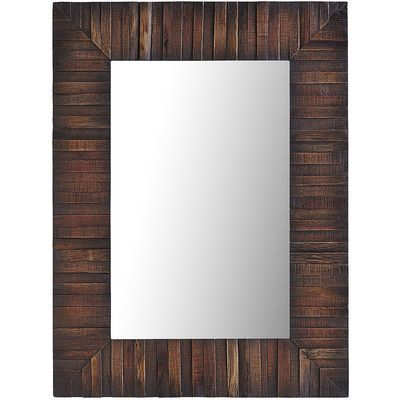 Why do we call this mirror Eternal? With its simple silhouette and collaged wooden details, it will never go out of style. Hardware is included for easy hanging in an office, living room or entryway.
