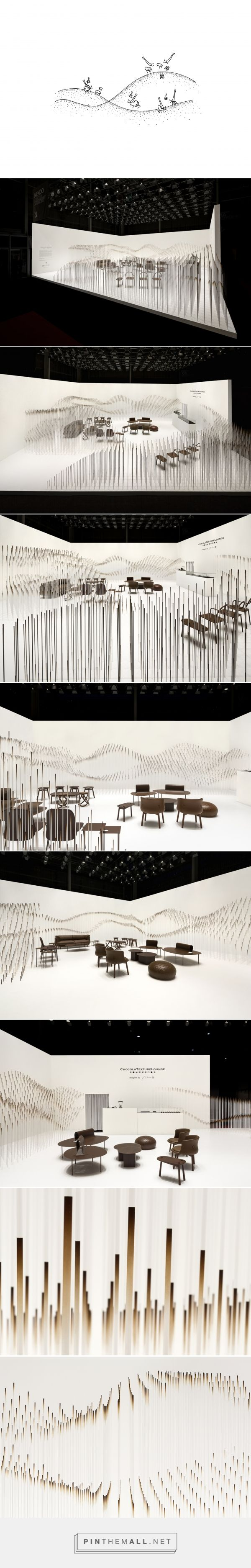 """chocolatexture lounge   nendo """"A rippling large molten chocolate wave."""""""