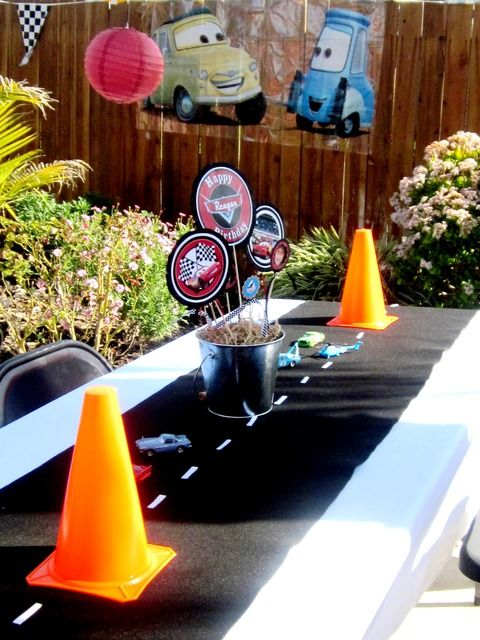"Photo 7 of 71: Disney Pixar Car's Party / Birthday "" Raceway"" 