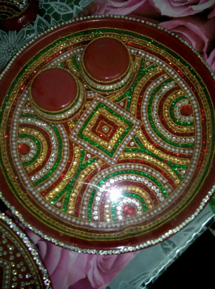 356 best images about pooja thali on pinterest henna for Aarti thali decoration with clay