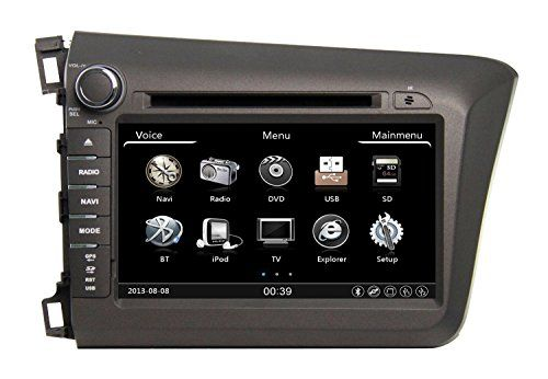 Zestech 8 inch for Honda CIVIC 2012 Touch Screen Car DVD Player GPS Navigation Stereo with map and free Reverse Camera as Gift -- Learn more by visiting the affiliate link Amazon.com on image.