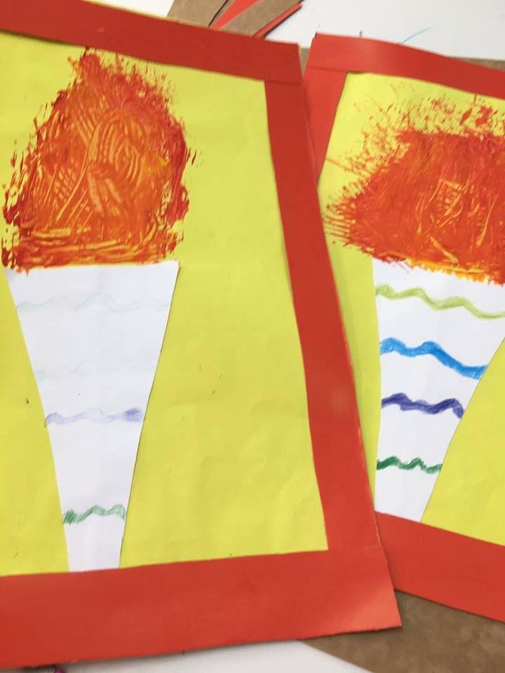 Tocha olímpica e pintura com garfo - Especial férias