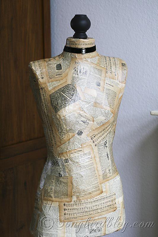 How to make a dressform from scratch. http://www.songbirdblog.com
